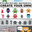 Monsters Creation Kit - Stock Vector