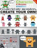Monsters Creation Kit — Stock Vector