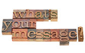 What is your message question — Stock Photo