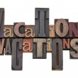 Vacations word abstract — Stock Photo #5455875