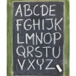 Royalty-Free Stock Photo: Alphabet in chalk on blackboard