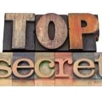 Top secret in letterpress type — Stock Photo #5579702