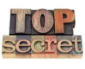Top secret in letterpress type — Stock Photo