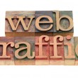 Stock Photo: Web traffic in letterpress type