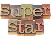 Superstar - in letterpress type — Stock Photo
