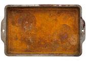 Rusty metal tray — Stock Photo