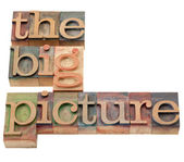 Big picture in letterpress type — Stock Photo