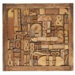 Letterpress printing blocks abstract — Stock Photo