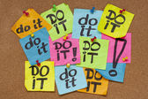 Do it - procrastination concept — Stock Photo