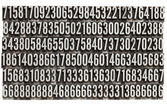 Random numbers in metal letterpress type — Stock Photo