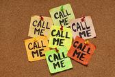 Call me reminder — Stock Photo