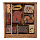 Bloques impresión tipográfica vintage — Foto de Stock