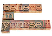 Believe in yourself — Stock Photo