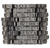 Random numbers in letterpress type — Stock Photo
