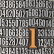 Stock Photo: Number one - numerical background