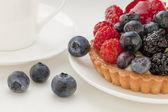 Fruit tart with blueberries — Stock Photo