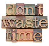 Do not waste time — Stock Photo