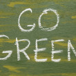 Go green sign — Stock Photo