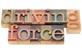Driving force phrase — Stock Photo