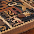 Antique letterpress prinitng blocks — Foto Stock