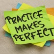 Practice makes perfect - Foto de Stock