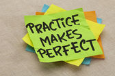 Practice makes perfect — Stockfoto