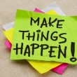 Make things happen - Foto de Stock