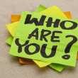Who are you question - Foto de Stock