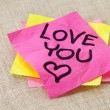 Love you - office romance — Stock Photo