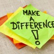 Stock Photo: Make difference reminder