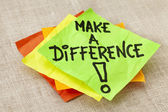 Make a difference reminder — Stock Photo
