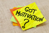 Got motivation question — Stock Photo