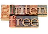 Gluten free text — Stock Photo