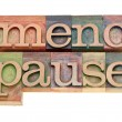 Menopause word in letterpress type — Stock Photo