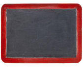 Slate blackboard in red wood — Stock Photo