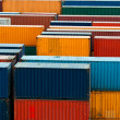 Colorful freight containers — Stock Photo