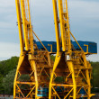 Stock Photo: Shipping Cranes
