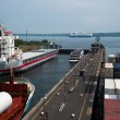 Locks at Exit of Kiel Canal, Germany - Stock Photo