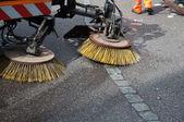 Street sweeper machine/car — 图库照片