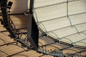 Roof construction of a soccer stadium — Stock Photo
