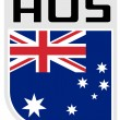 Flag of australia icon - Stock Photo