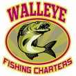Walleye fish fishing charters — Stock Photo