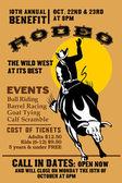 American Rodeo Cowboy riding bull — Stock Photo