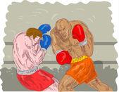 Pugili boxe — Foto Stock