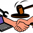 Auction items handshake deal swap exchange — Stock Photo
