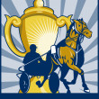 Harness horse race racing championship cup — Stock Photo
