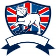 Proud english bulldog british flag shield — Stock Photo #6365594