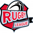 Постер, плакат: Rugby league ball shield