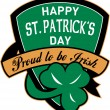 St. patrick's day shield irish — Stock Photo
