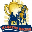 Harness horse race racing championship cup - Stock Photo